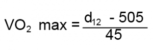 VO2 Max Equation